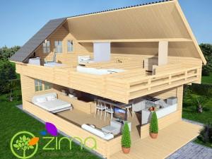 Chalet Alpes 107 m²