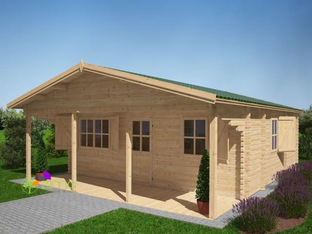 Chalet bois kit bordeaux 36m - Cabane de jardin habitable versailles ...