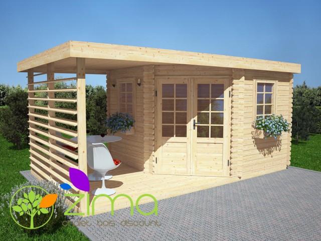 Abri de jardin en bois massif 9m²