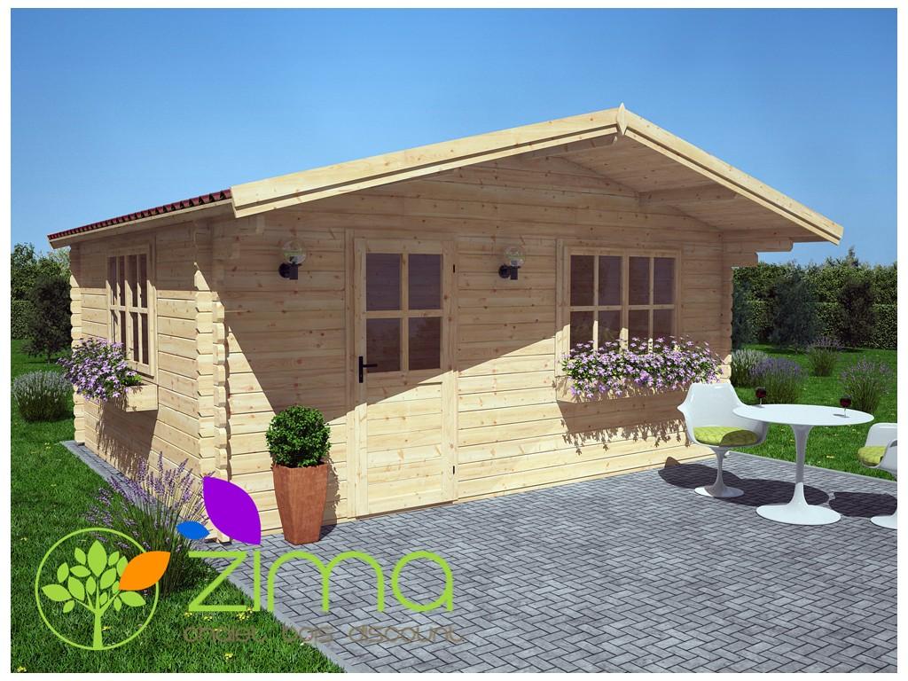 Abri de jardin en bois massif 20m²