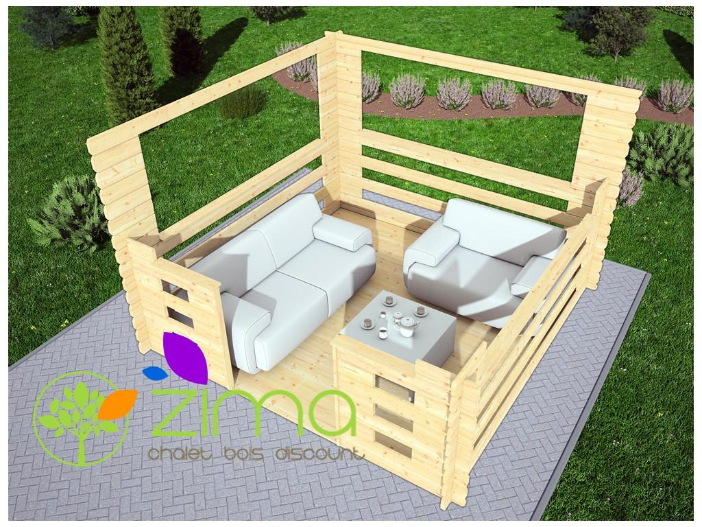 tonnelle en bois 9m. Black Bedroom Furniture Sets. Home Design Ideas