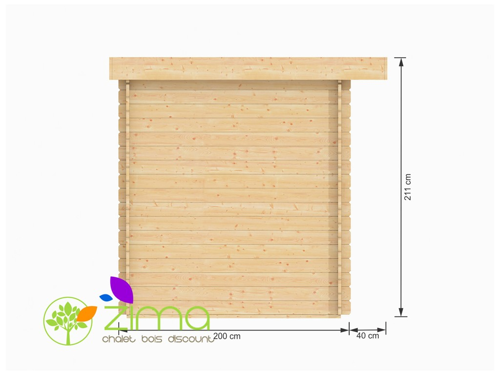 Abris en bois massif modern toit plat - Abri de jardin prix discount ...