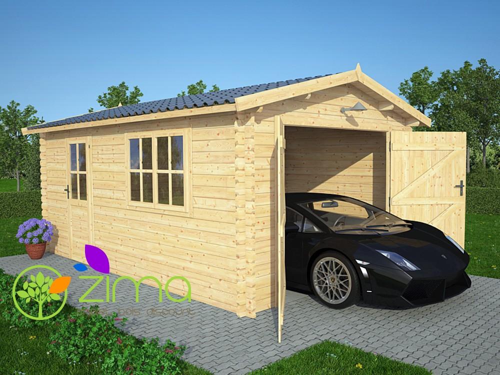 Garage En Bois  M  Zima  Chalet Bois Discount