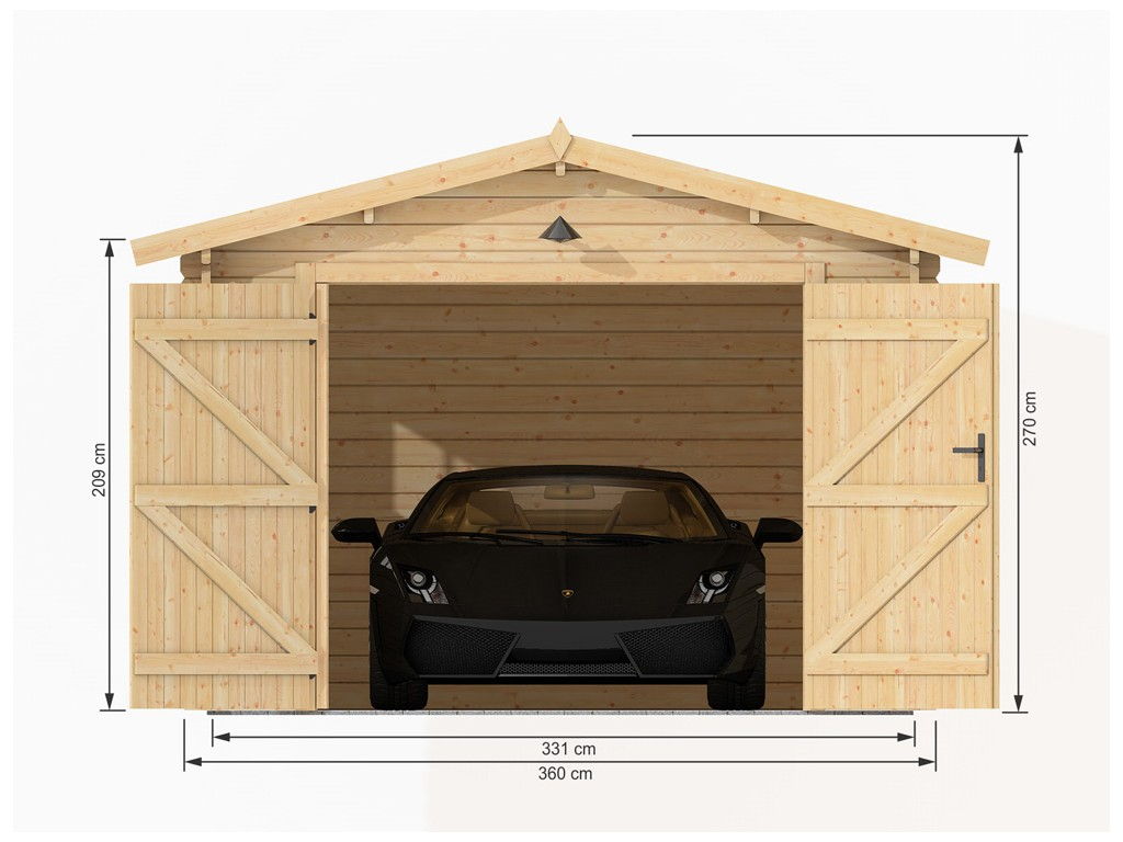 Garage en bois m zima chalet bois discount for Garage en bois 20m2