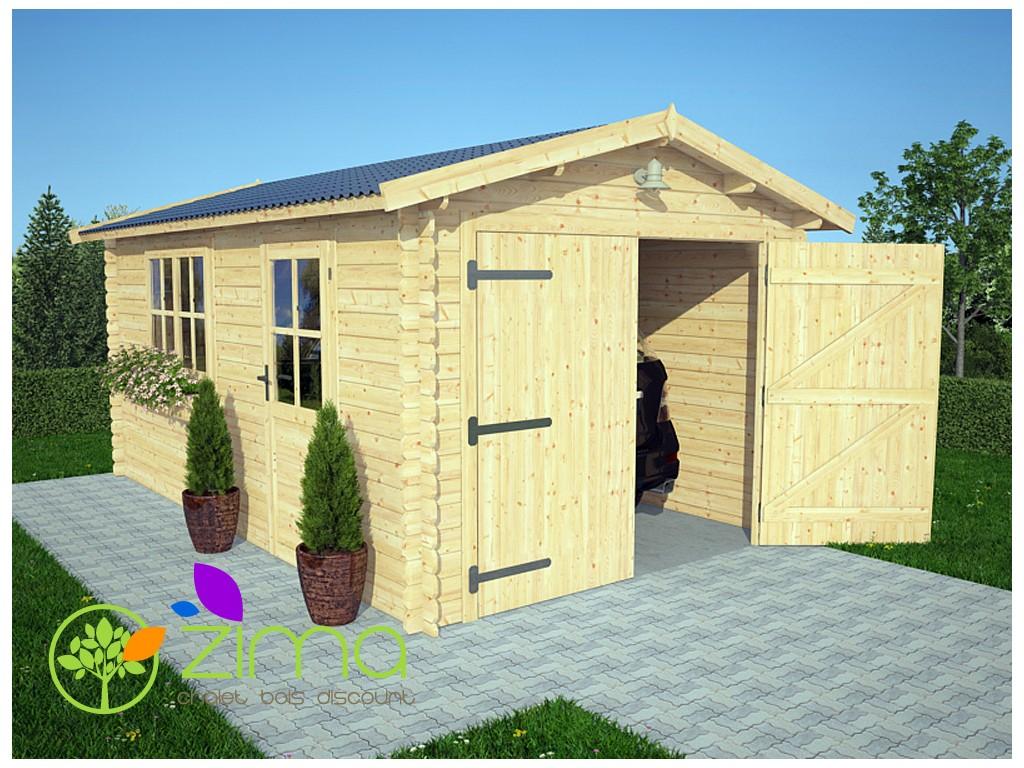 Garage en bois 16m pas cher for Garage en bois en belgique