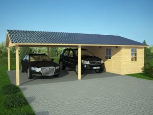 Chalet bois abris de jardin garage bois discount et en for Abri auto double costco