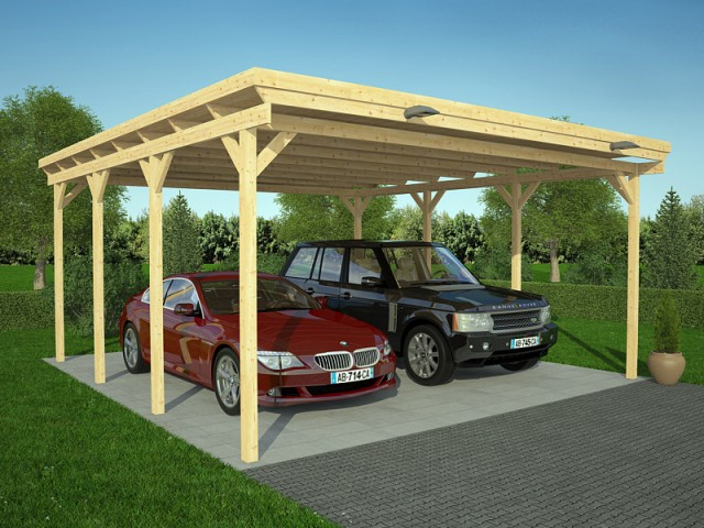 carport moderne 36m zima chalet bois discount. Black Bedroom Furniture Sets. Home Design Ideas