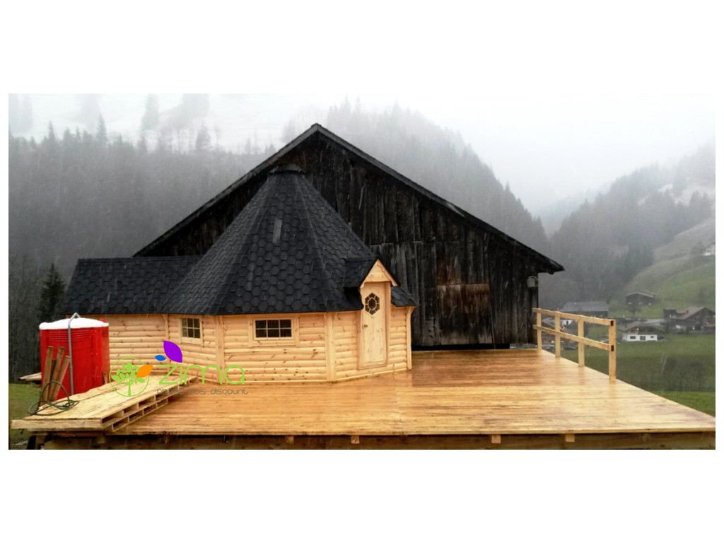 chalet en bois chalets chalet en bois habitable 20m2 chalet bois 20m2. Black Bedroom Furniture Sets. Home Design Ideas