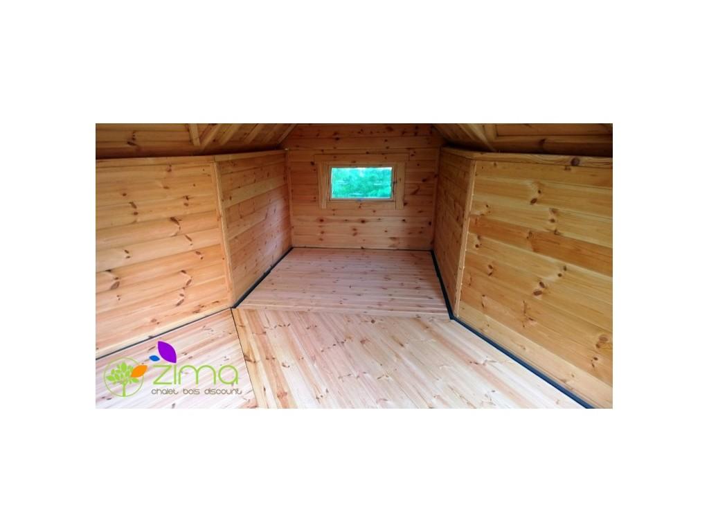Extension 3 5m zima chalet bois discount for Extension chalet bois
