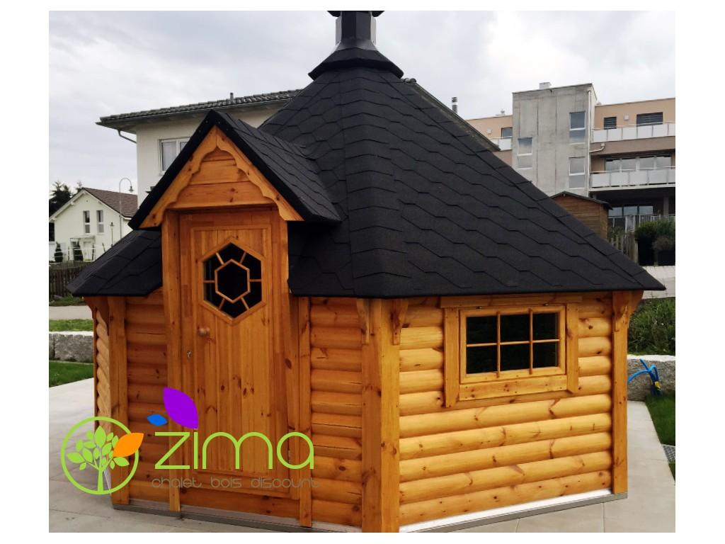 Sauna grill 16 5 m zima chalet bois discount - Sauna finlandais prix ...