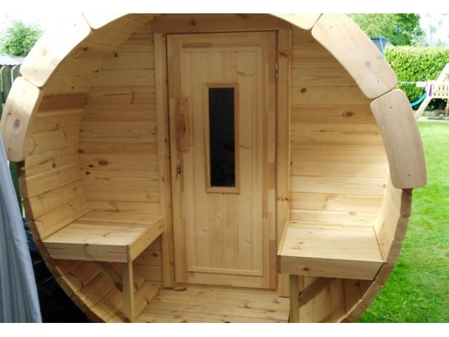 Sauna tonneau 2.4m Ø 1.97 m