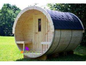 Sauna tonneau  2.4m Ø 2.27 m