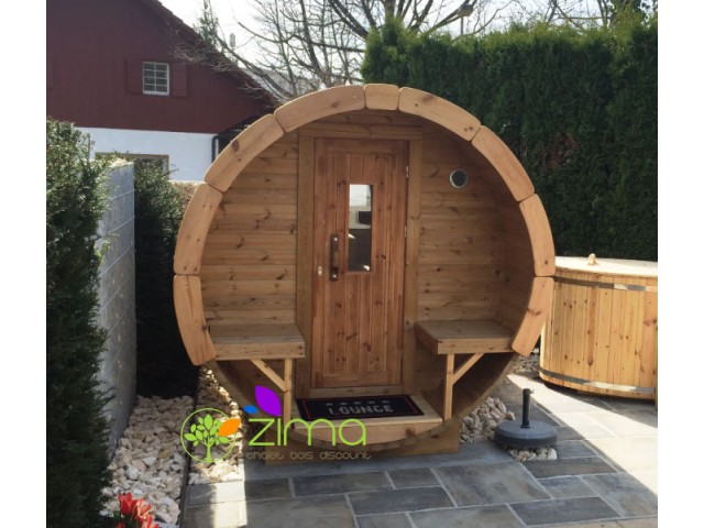 Sauna tonneau 3m Ø 1.97 m