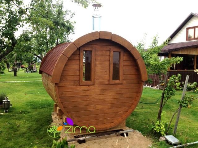 Sauna tonneau 3.5m Ø 2.27 m