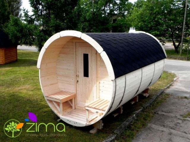 Sauna tonneau 4m Ø 1.97 m
