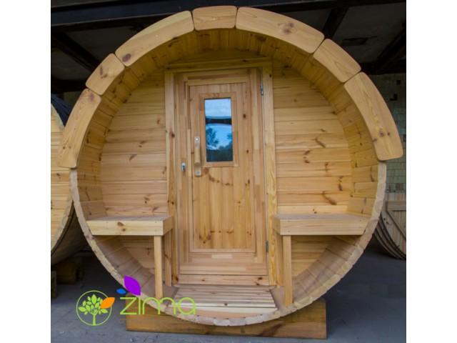 Sauna tonneau  4m Ø 2.27 m