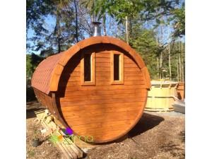 Sauna tonneau 4.5m Ø 1.97 m