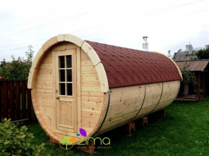 Sauna tonneau  4.8m Ø 1.97 m