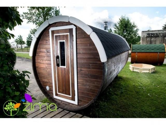 Sauna tonneau  4.8m Ø 2,27 m