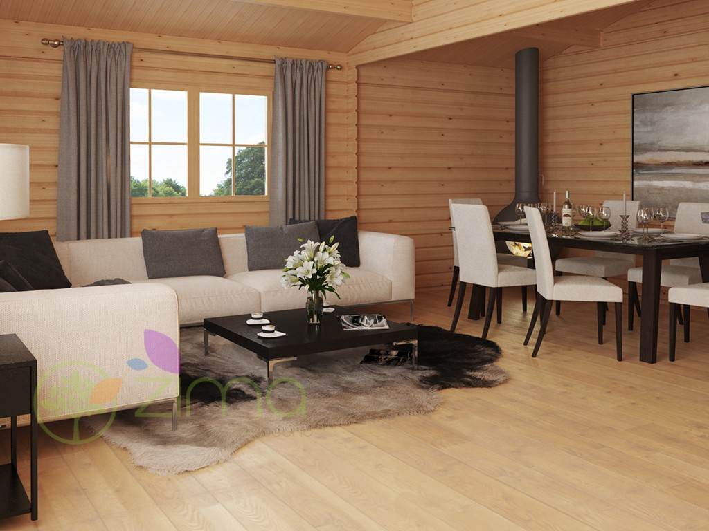 Chalet de jardin en bois massif islande 36m - Chalet bois discount ...