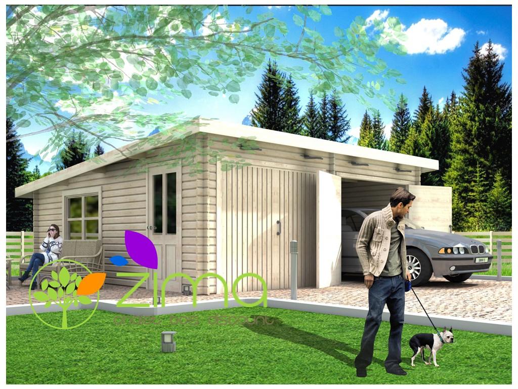 garage en bois 600x600 44mm 36m. Black Bedroom Furniture Sets. Home Design Ideas