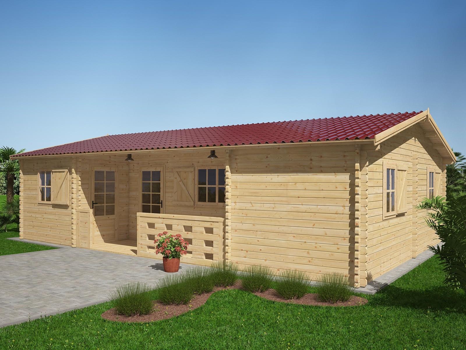 Maison chalet en bois idee plan maison moderne ossature for Chalet bois plain pied