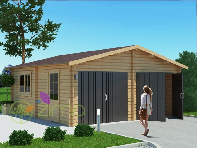 Garage en bois 600x600 44mm 36m - Porte garage double ...