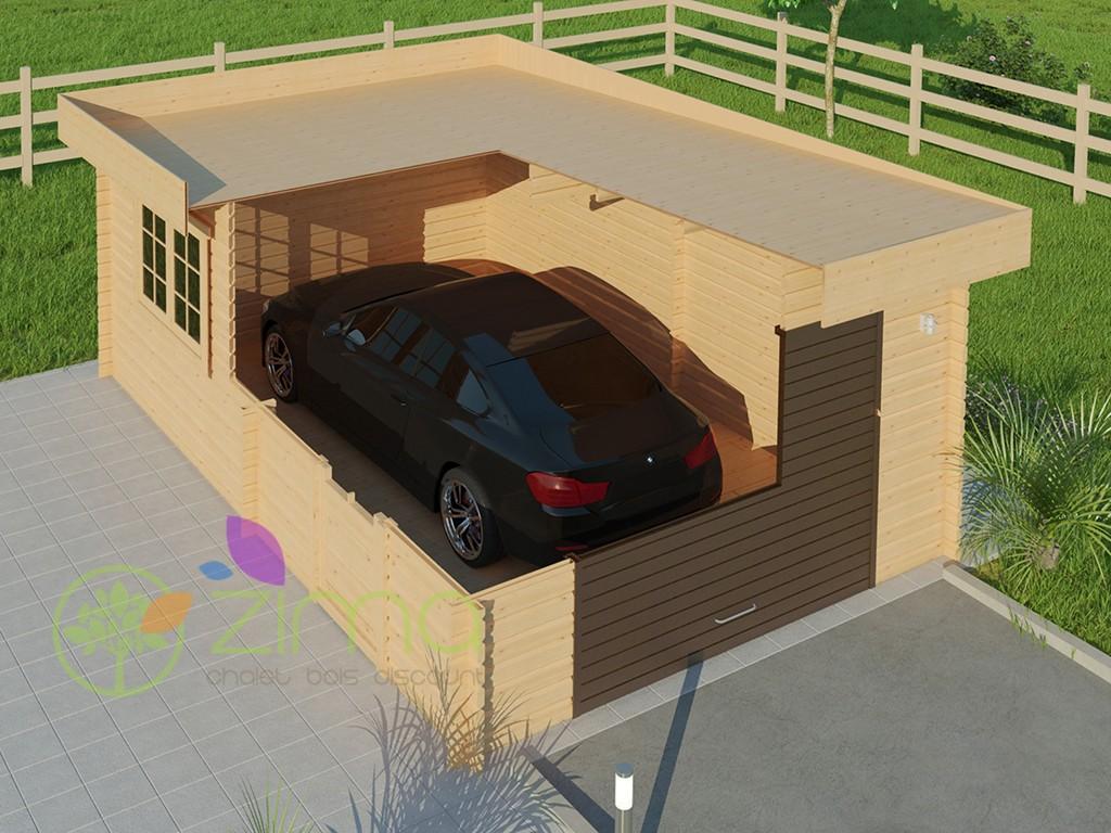 Garage En Bois 600x600 44mm 24m²