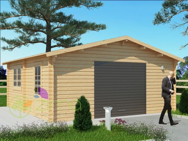 Garage en bois 36m²