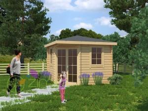 Abri de jardin Luxe 3x3 28mm 9m² plan en bois massif